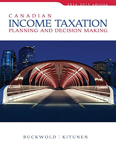 9781259094330: Canadian Income Taxation 2014/2015