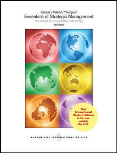 9781259094842: Essentials of Strategic Management (Int'l Ed): The Quest for Competitive Advantage