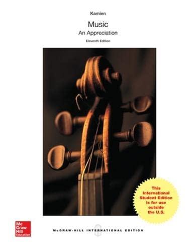 9781259094897: Music: An Appreciation (Int'l Ed)