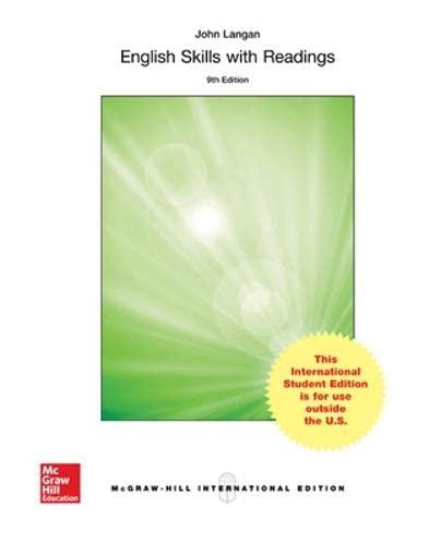 English Skills with Readings (Int'l Ed): John Langan; Zoe