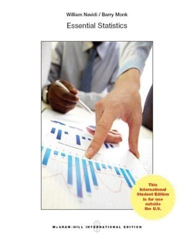 9781259095047: Essential Statistics w/ Data CD and Formula Card (Int'l Ed)