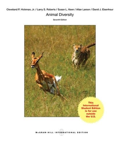 Animal Diversity: Hickman, Jr., Cleveland