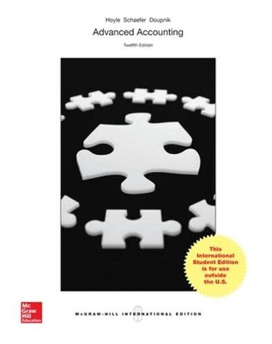 Advanced Accounting (Paperback): Joe Ben Hoyle, Thomas Schaefer, Timothy S. Doupnik