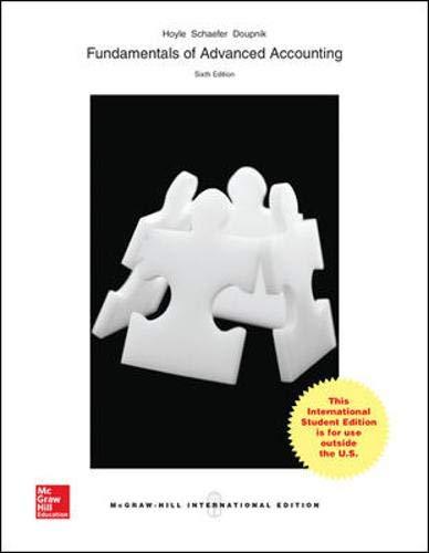 9781259095597: Fundamentals of Advanced Accounting (Int'l Ed)