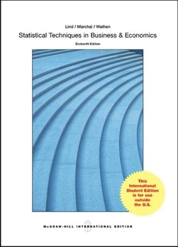9781259095641: Statistical Techniques in Business and Economics (Int'l Ed)