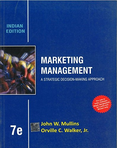 9781259097201: Marketing Management A Strategic Decision-making Approach 7th Ed