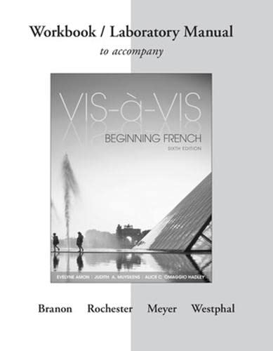 9781259111006: Workbook/Laboratory Manual to accompany Vis-à-vis