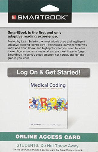 9781259112942: SmartBook Access Card for Medical Coding: Understanding ICD-10-CM and ICD-10-PCS