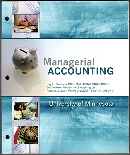 9781259114458: Managerial Accounting, 14th (Chapters 1-12, Custom UMN)