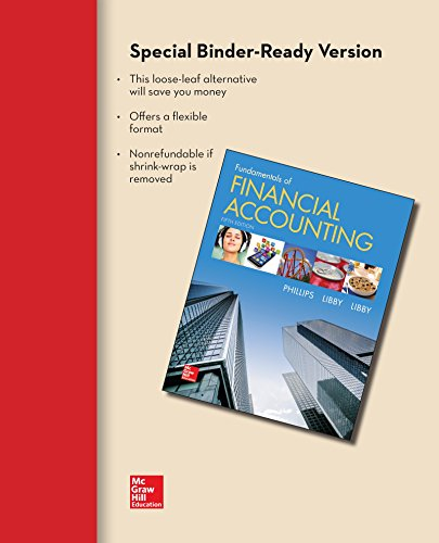 9781259115400: Loose-leaf for Fundamentals of Financial Accounting