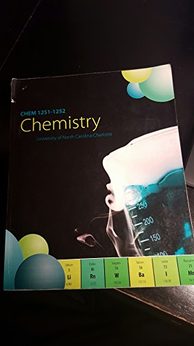 9781259116421: CHEM 1251-1252 Chemistry (University of North Carolina- Charlotte)