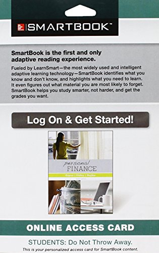 9781259116551: SmartBook Access Card for Personal Finance