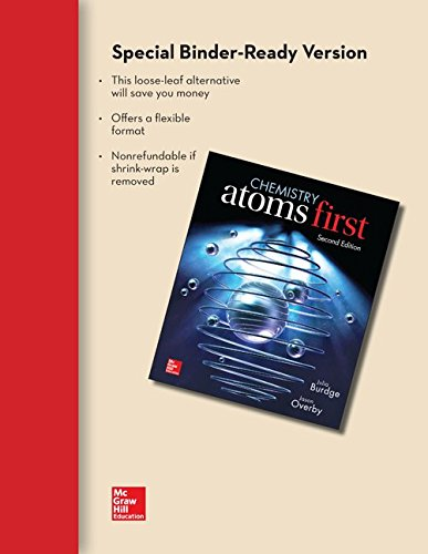 9781259117770: Combo: Loose Leaf Chemistry - Atoms First with Connect Access Card