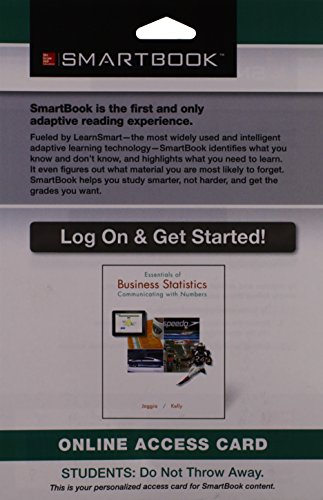 9781259120527: Smartbook Access Card for Essentials of Business Statistics