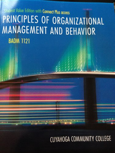 9781259122293: Principles of Organizational Management and Behavior
