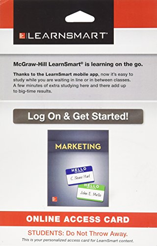 9781259122514: LearnSmart Access Card for Marketing