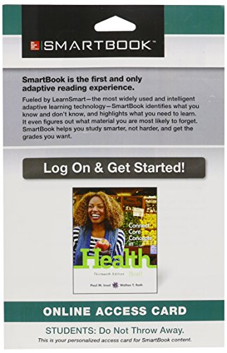 9781259122576: SmartBook Access Card for Connect Core Concepts in Health, Brief