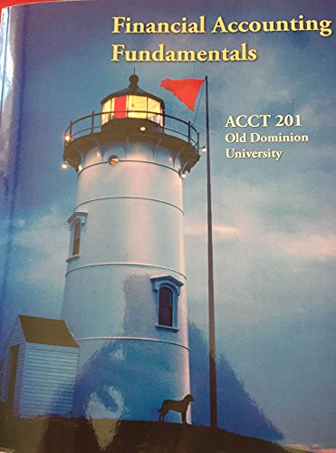9781259123191: Financial Accounting Fundamentals 4th Edition (ACCT 201 Old Dominion University)