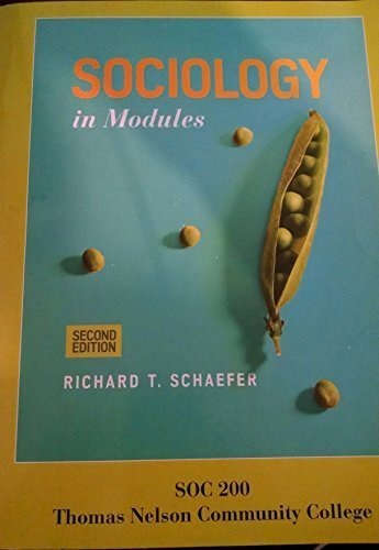 Sociology in Modules - Custom Edition for: Richard T. Schaefer