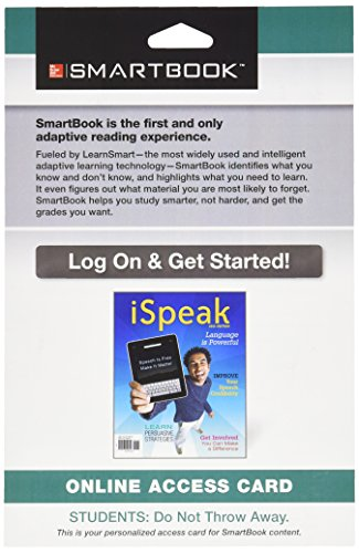 9781259126697: SmartBook Access Card for iSpeak: Public Speaking for Contemporary Life
