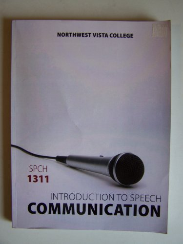 9781259127748: Introduction to Speech Communication (SPCH 1311) ~ Northwest Vista College