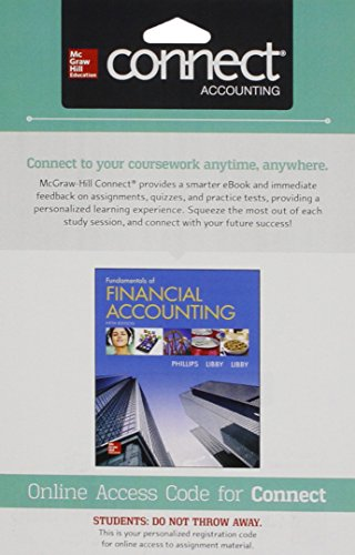 9781259128547: Connect 1 Semester Access Card for Fundamentals of Financial Accounting