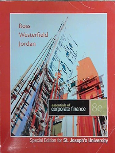 Essentials of Corporate Finance: Westerfield Ross