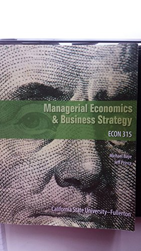 9781259131974: Managerial Economics & Business Strategy 8th edition by Michael Baye, Jeff Prince (2014) Paperback