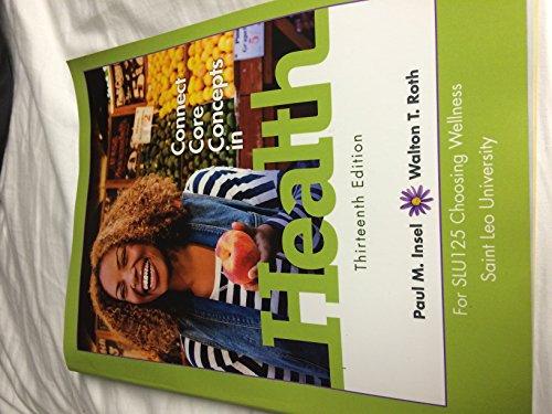 9781259132209: Connect Core Concepts in Health 13th Edition Slu125