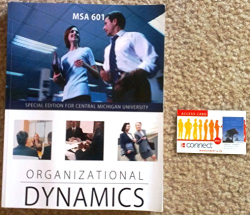 9781259136955: MSA 601 Organizational Dynamics