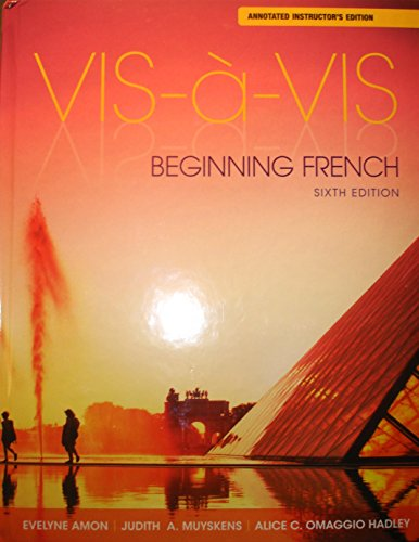 9781259137020: VIS-A-VIS: Beginning French