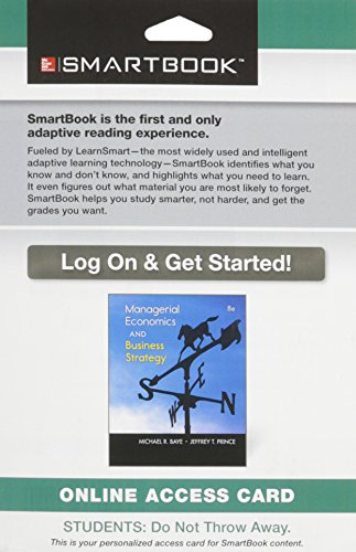 9781259137952: Smartbook Access Card for Managerial Economics & Business Strategy