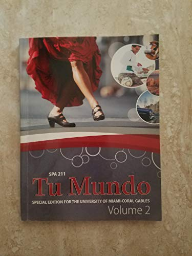 9781259138966: Tu Mundo for Spa 211 Special Ed. For the Univ.of Miami Vol.2 with Online Connect Access