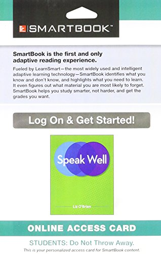 9781259138997: SmartBook Access Card for Speak Well
