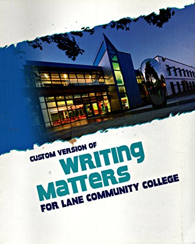 9781259144677: Writing Matters for Lane Community College