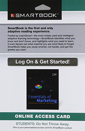 9781259145483: SmartBook Access Card for Essentials of Marketing