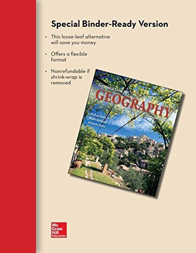 9781259145674: Loose Leaf for Introduction to Geography with Connect Access Card