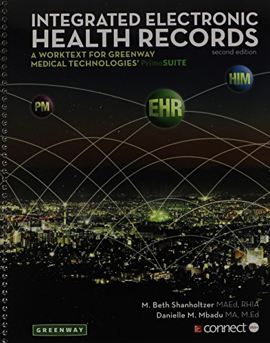 9781259148309: Integrated Electronic Health Records with Connect Access Card