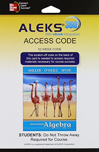 9781259151361: ALEKS 360 Access Card (52 weeks) for Intermediate Algebra (softcover)