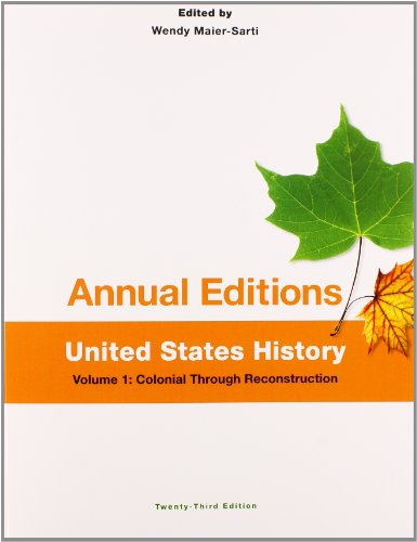 9781259153297: Annual Editions: United States History, Volume 1: Colonial through Reconstruction