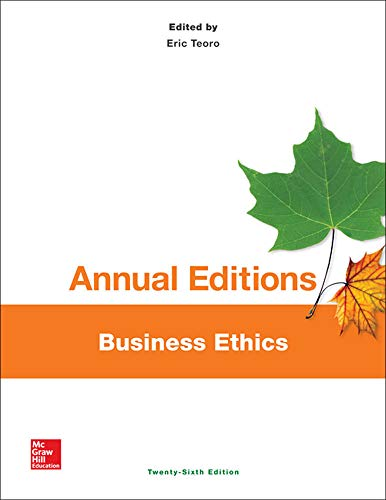 9781259153327: Annual Editions: Business Ethics, 26/e