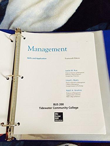 9781259159916: Management Skills & App / BUS 200