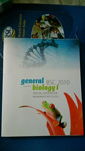 9781259160035: General Biology I Volume 1 Special Edition Custom Indian River State College BSC 2010