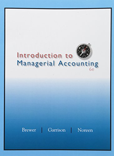 Introduction to Managerial Accounting ACC 2203, Special: Peter C. Brewer,
