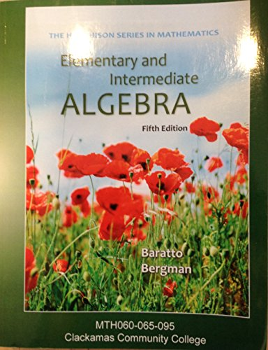 9781259163265: Elementary and Intermediate Algebra (Custom edition for Clackamas Community College)
