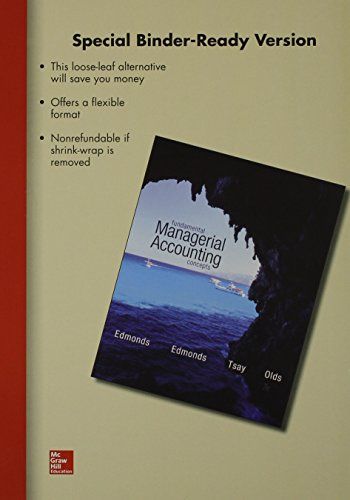 9781259163470: Loose Leaf Fundamental Managerial Accounting Concepts with Connect Access Card