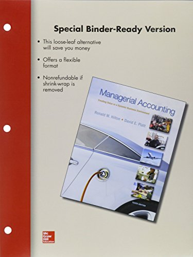 9781259163487: Loose Leaf Managerial Accounting with Connect Access Card