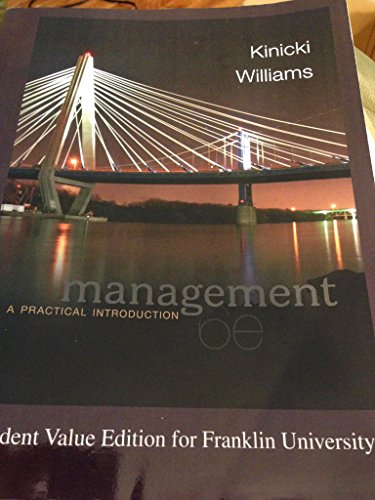 9781259168024: Management; Kinicki and Williams