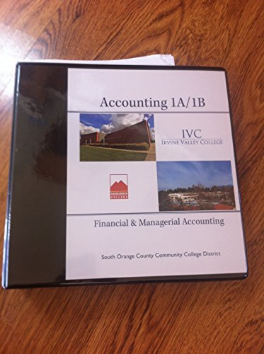 9781259170362: Financial & Managerial Accounting 1A & 1B IVC (Irvine Valley College) and Saddleback College with Connect Plus