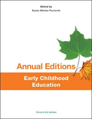 9781259171383: Annual Editions: Early Childhood Education, 35/e